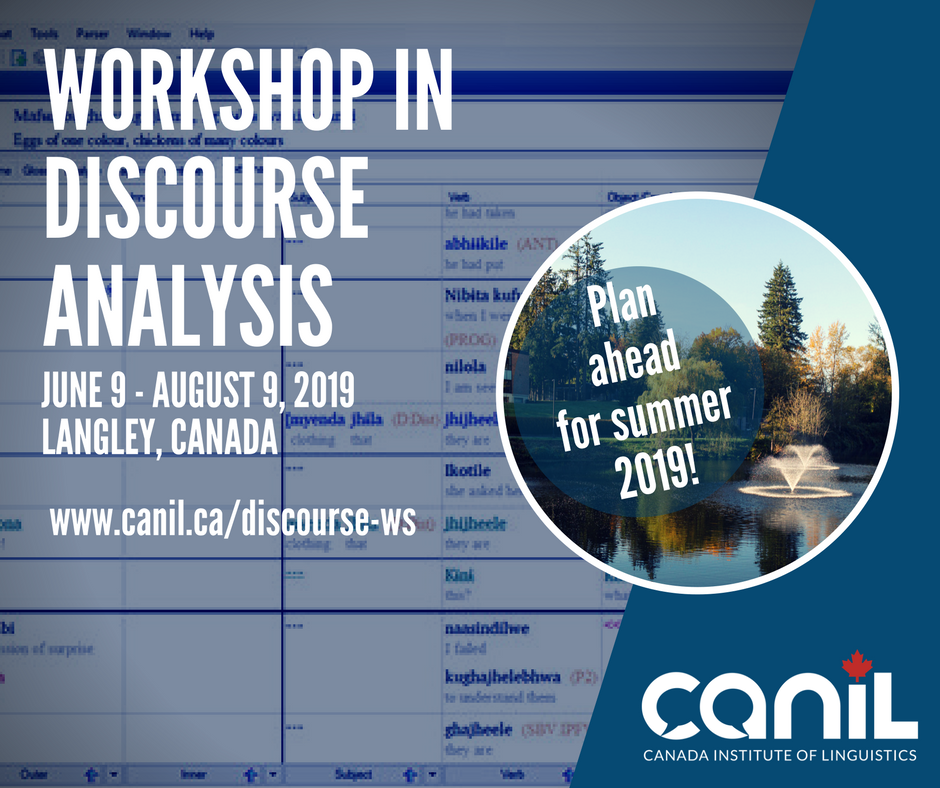 Discourse Analysis Workshop at CanIL